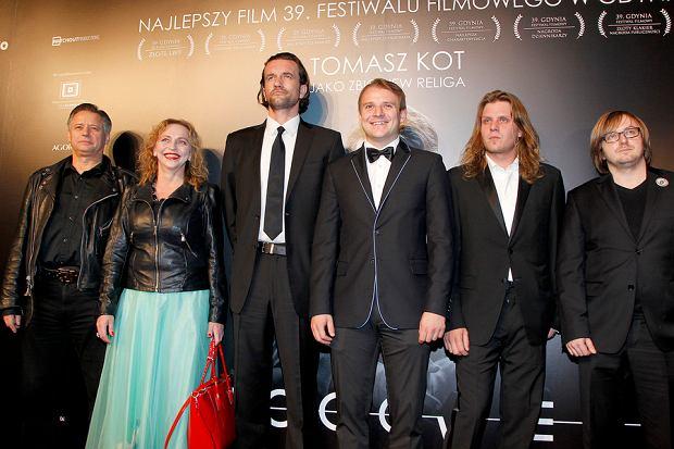 Piotr Woźniak-Starak na premierze filmu 'Bogowie:'