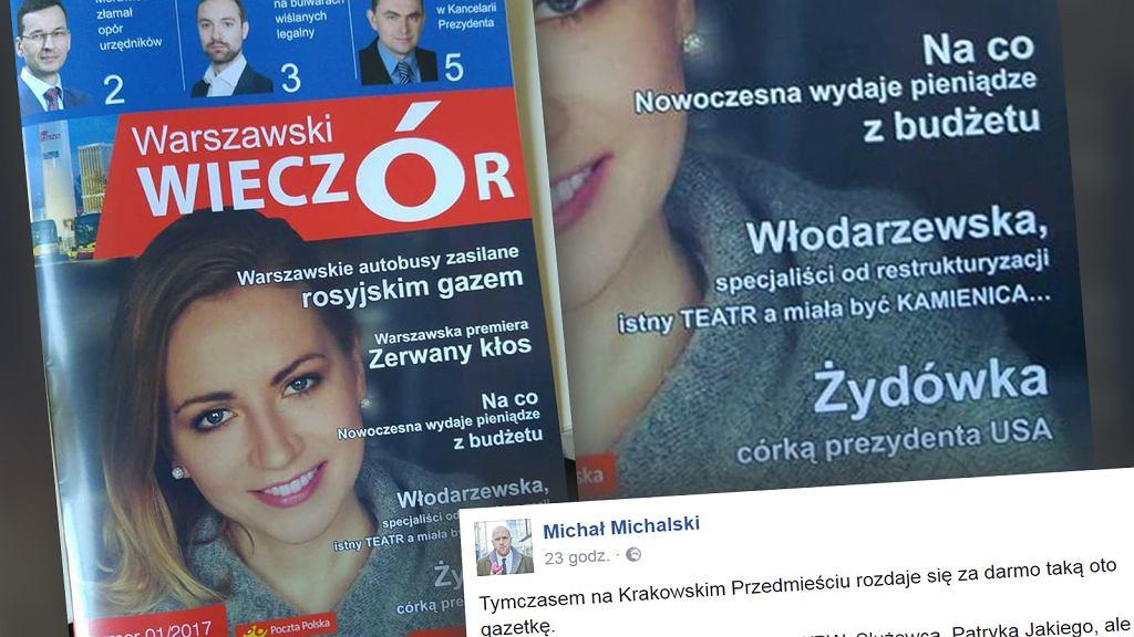 Okładka czasopisma 'Warszawski Wieczór'