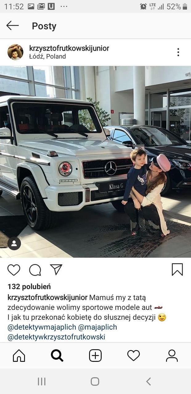 Krzysztof Rutkowski Junior i Maja Rutkowski na Instagramie