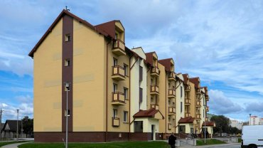 Blok komunalny na os. Drabinianka w Rzeszowie