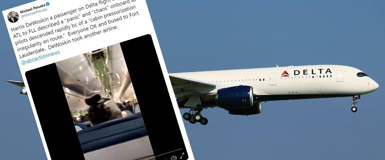 Samolot pasażerski nagle obniżył lot o 9 tys. metrów.