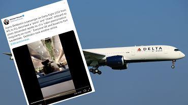 Samolot linii Delta Air Lines awaryjnie lądował. Obniżył lot o prawie 9 km w ciągu 8 minut. Zdjęcie ilustracyjne