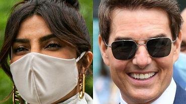 Priyanka Chopra i Tom Cruise na finale damskiego Wimbledonu