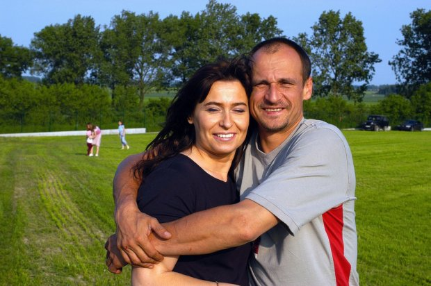 Paweł Kukiz z żoną w 2003 roku