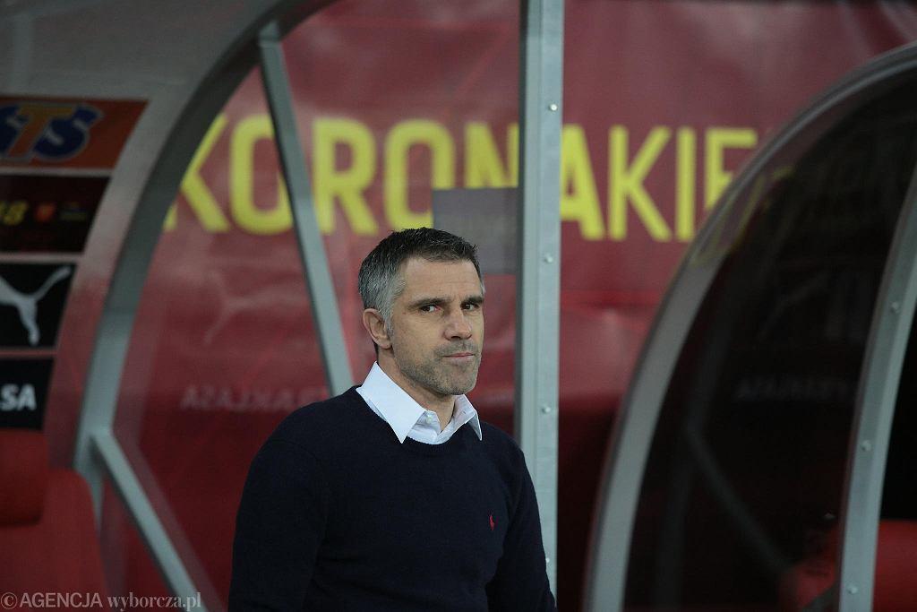 Gino Lettieri podczas meczu Korona Kielce - Górnik Zabrze