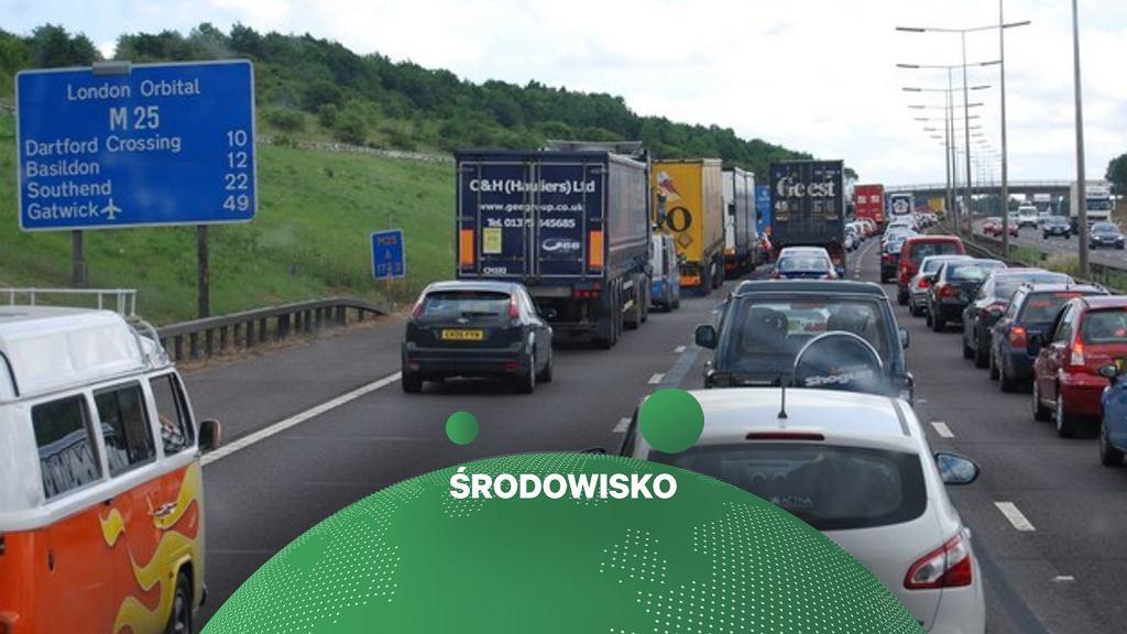 Korek na autostradzie Wielkiej Brytanii