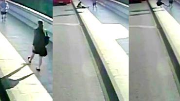 Mężczyzna potrącił kobietę, ta prawie wpadła pod autobus