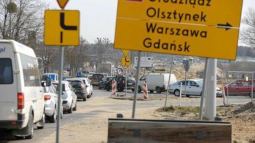 Prace drogowe na ul. Towarowej w Olsztynie