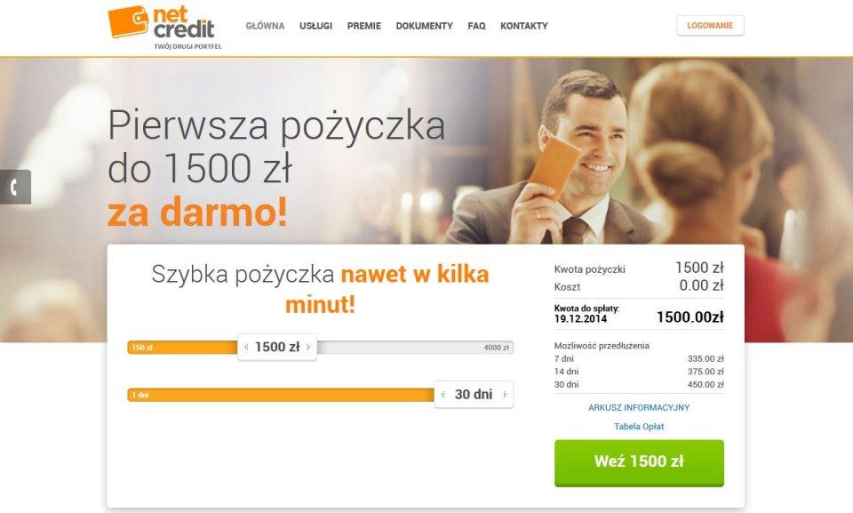 Reklama strony netcredit