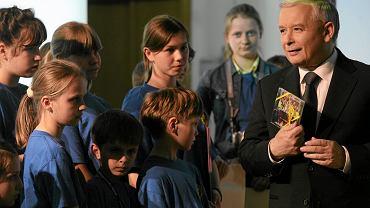 Jarosław Kaczyński z dziećmi