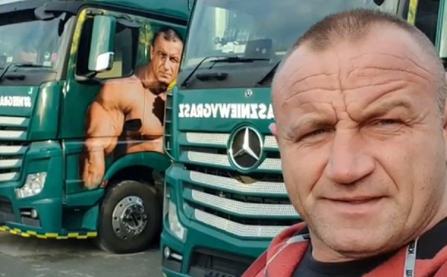 Ciężarówki Mariusza Pudzianowskiego zniszczone przez wandali. 'Łapy bym przetrącił'