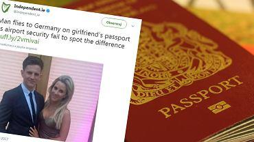 Mężczyzna przeszedł kontrolę na lotnisku z paszportem swojej parnterki