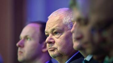 Prezes NBP Adam Glapiński i  przewodniczący Komisji Nadzoru Finansowego Marek Chrzanowski podczas konferencji 'Future of the European Economy'. Warszawa, 14 października 2016