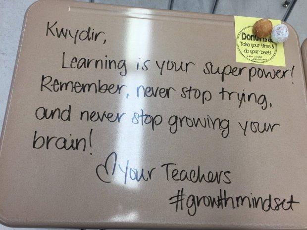 Jedna z wiadomości zostawionych przez panią Langford