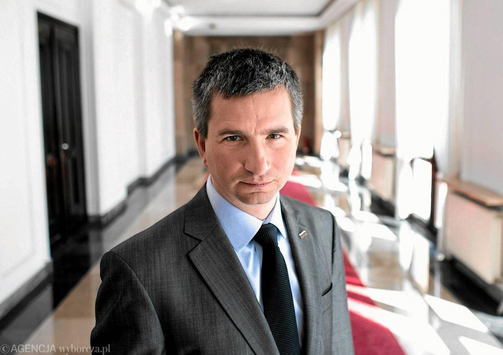 Minister finansów Mateusz Szczurek. Zdjęcie z 2014 roku.