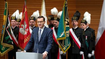 Premier Mateusz Morawiecki podczas spotkania z górnikami w ramach Barbórki (zdjęcie ilustracyjne)