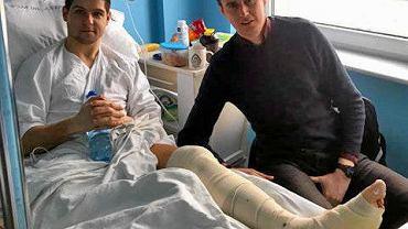 Marcin Jackowiak w szpitalu