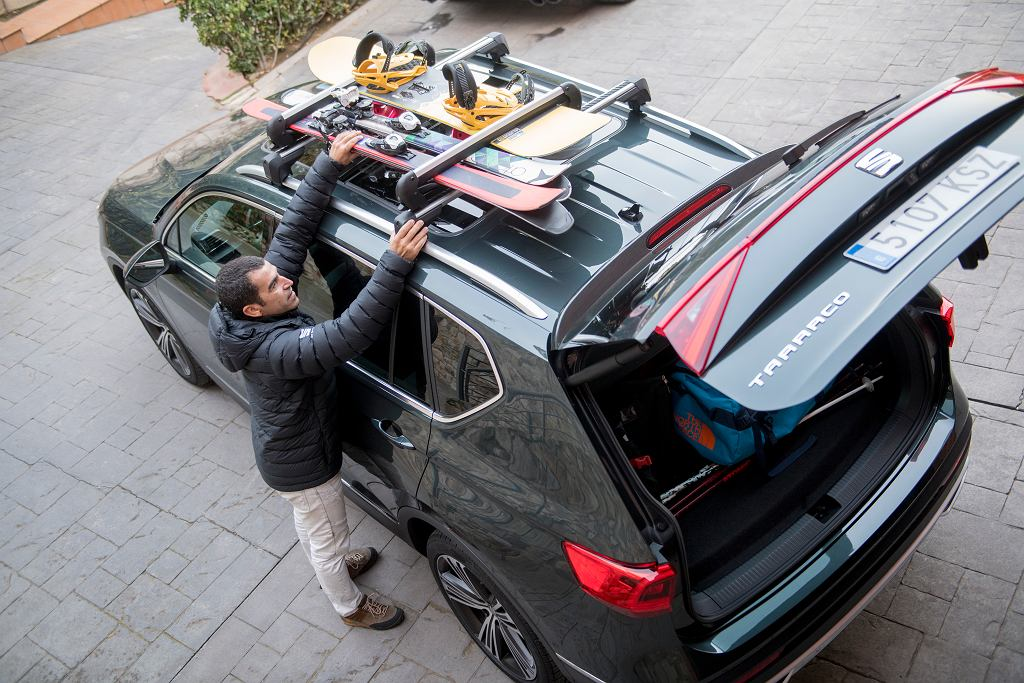 Do niektórych samochodów, tak jak np. do Seata Tarraco, pasuje wiele rodzajów bagażników zewnętrznych