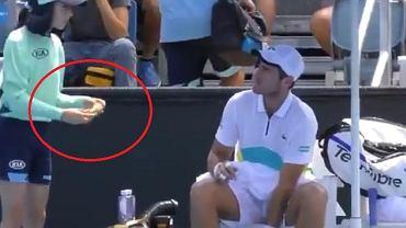 Żenujące zachowanie francuskiego tenisisty