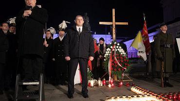 Jarosław Kaczyński na miesięcznicy katastrofy smoleńskiej, październik 2015 r.