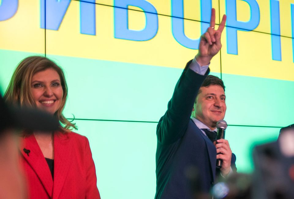 Zwycięzca pierwszej tury ukraińskich wyborów prezydenckich Wołodymyr Zełenski.