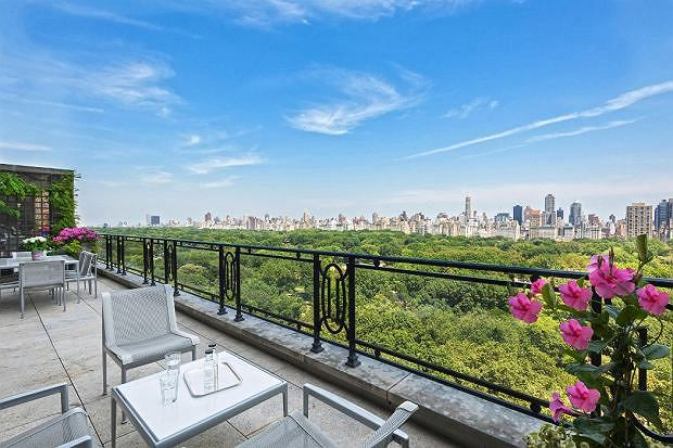 Widok z tarasu na Central Park