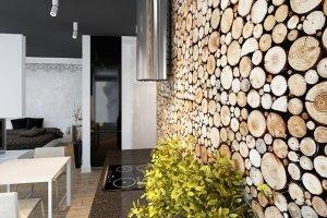 Drewniane dekoracje wnętrz - 14 oryginalnych pomysłów
