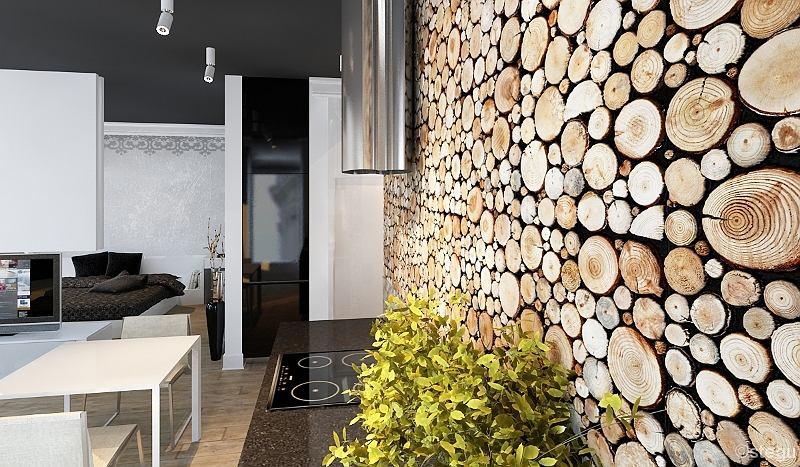 Genialny Drewniane dekoracje wnętrz - 14 oryginalnych pomysłów LR65