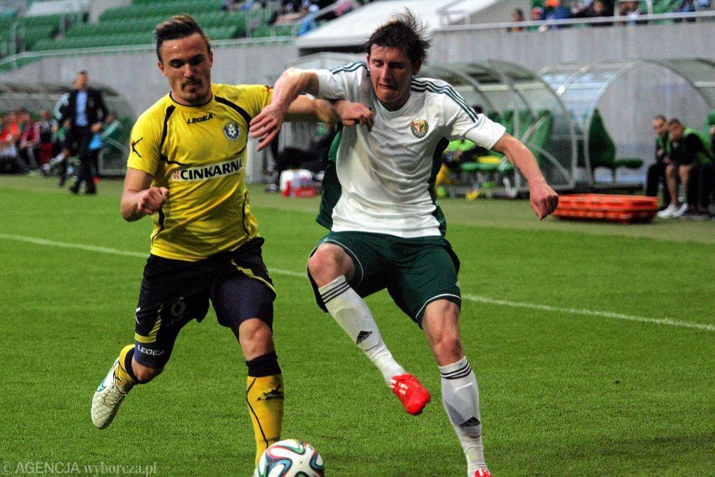 Jacek Kiełb podczas meczu z NK Celje w eliminacjach do Ligi Europy