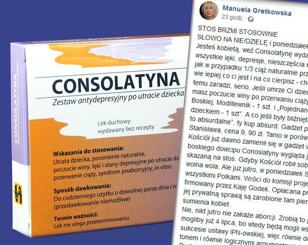 Consolatyna - zestaw dla kobiet po poronieniu, aborcji i in vitro