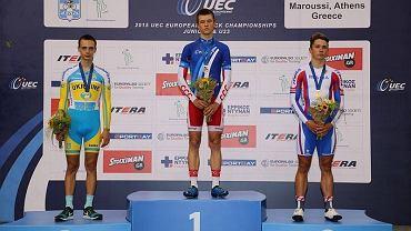 Kamil Czubak (KTK Kalisz) ze złotym medalem młodzieżowych mistrzostw Europy