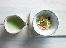 Zupa koperkowa, łosoś z solanki, purée chrzanowe - ugotuj