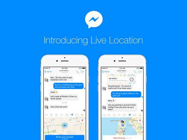 Facebook Messenger - dzielenie się lokalizacją na żywo