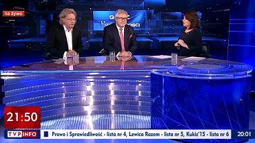 Krzysztof Mieszkowski i  Ryszard Czarnecki w programie Danuty Holeckiej