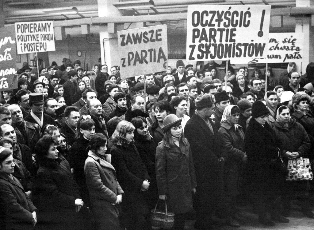 Protest w Warszawie. Marzec 1968 r. (fot. Teodor Walczak / Eastnews)