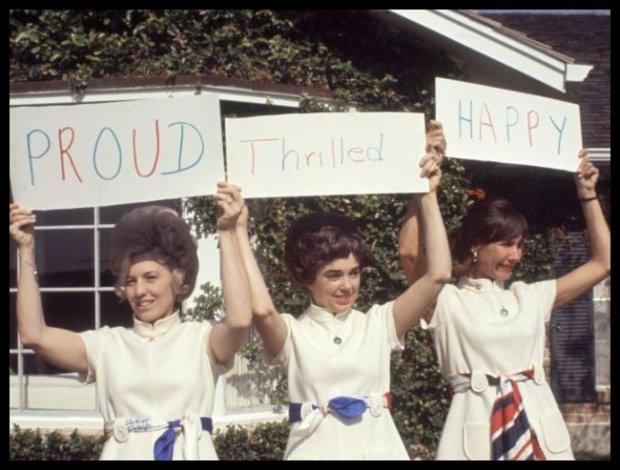 Idealne Panie Domu ery kosmicznej: astrożony uczestników misji Apollo 11: Sue Bean, Barbara Gordon i Jane Conrad (fot. mat. promocyjne)