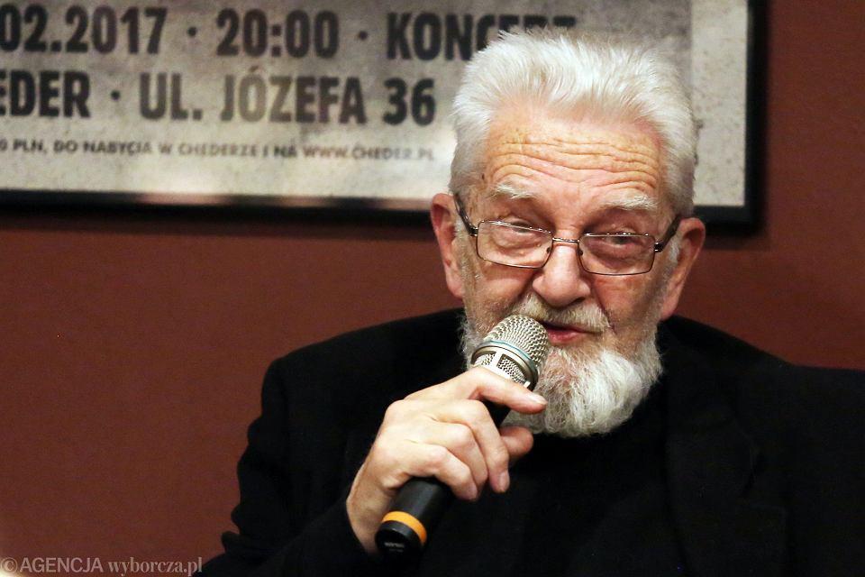 8 marca 2017, Kraków. Ks. Adam Boniecki podczas spotkania z cyklu Akademia Opowieści w kawiarni Cheder.