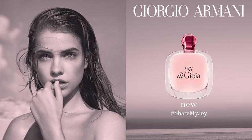 Barbara Palvin w kampanii perfum Sky di Gioia marki Giorgio Armani