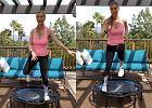 Joanna Krupa skacze na trampolinie. To ćwiczenie nie jest odpowiednie dla kobiet po porodzie! Poznaj opinię specjalisty