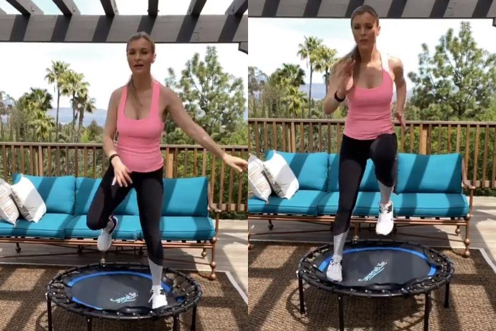 Joanna Krupa - ćwiczenia na trampolinie