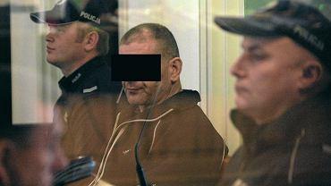 Kielce, 21 listopada 2012. Sąd okręgowy. Tadeusz G. podczas ogłoszenia wyroku 25 lat więzienia za potrójne zabójstwo obywateli Ukrainy w Cedzynie we wrześniu 1991 roku