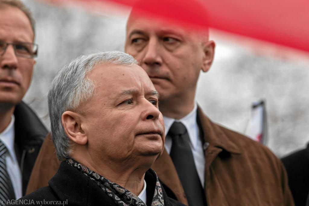 Jarosław Kaczyński, Joachim Brudziński, październik 2010