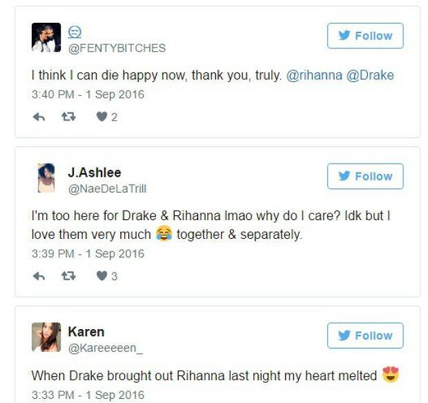 Fani o Rihannie i Drake'u