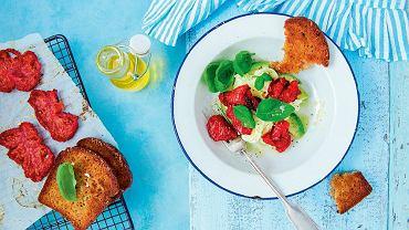 Sałatka z awokado i pieczonych pomidorów