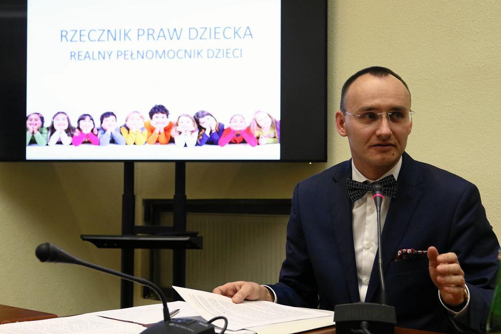 Rzecznik Praw Dziecka Mikołaj Paweł Pawlak