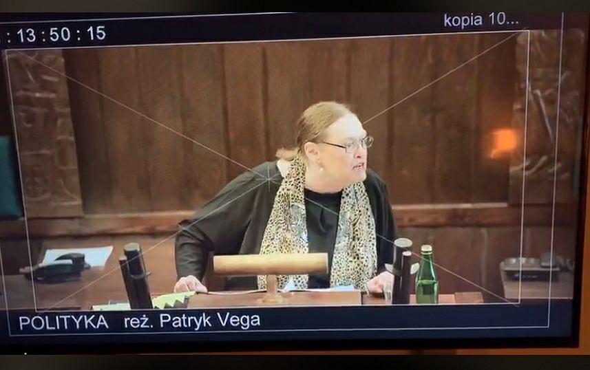Kadr z nagrania z filmu 'Polityka' udostępniony przez Patryka Vegę