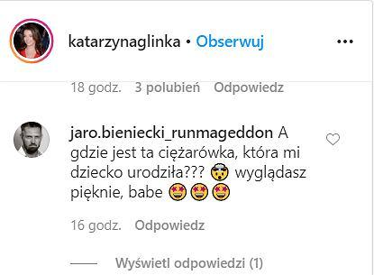 Katarzyna Glinka ćwiczy na Instagramie