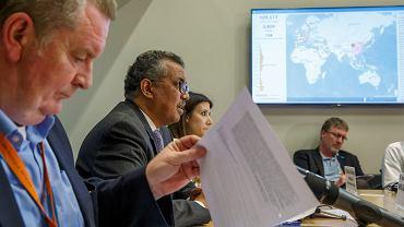 Tedros Adhanom Ghebreyesus, szef WHO (drugi z lewej)