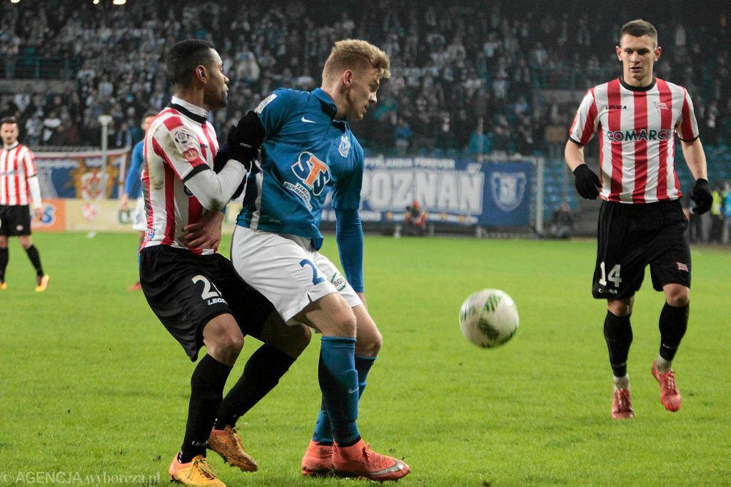 Lech Poznań - Cracovia 2:1. Deleu, Kamil Jóźwiak i Damian Dąbrowski