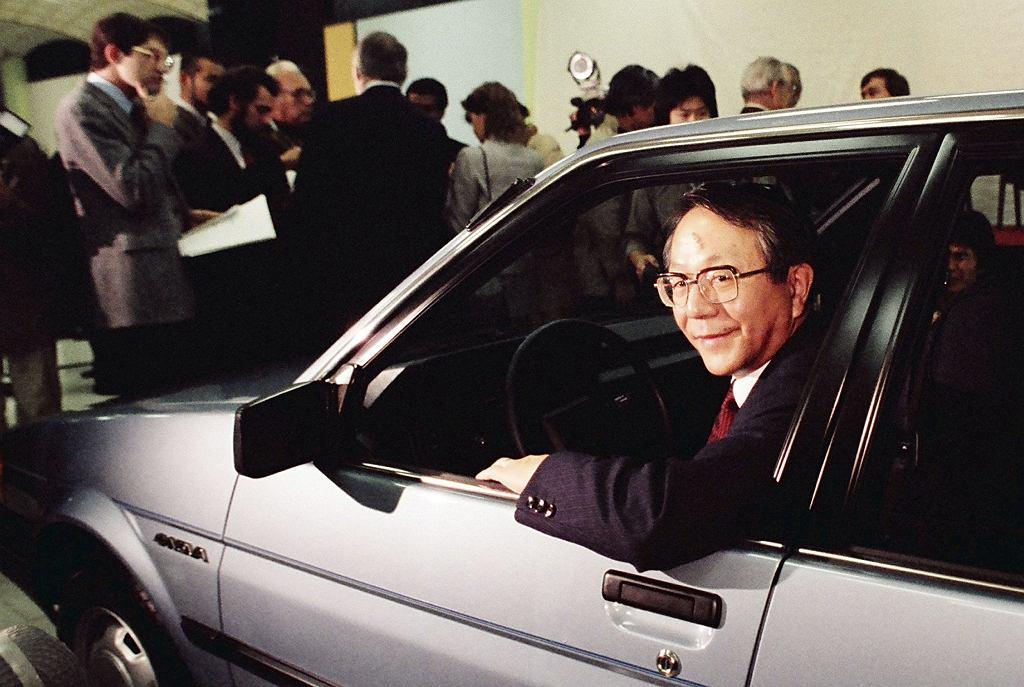 Tatsuro Toyoda w 1984 r. (Paul Sakuma/Toyota Motor Corpo/AP)